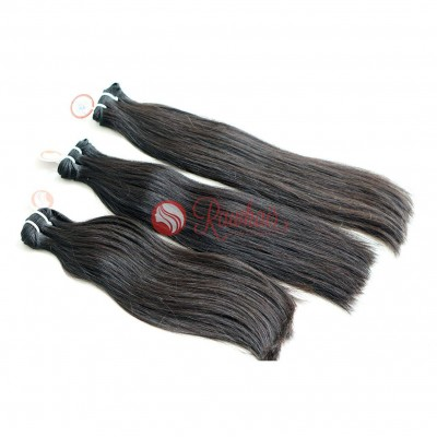 Straight Double Drawn Machine Weft Hair