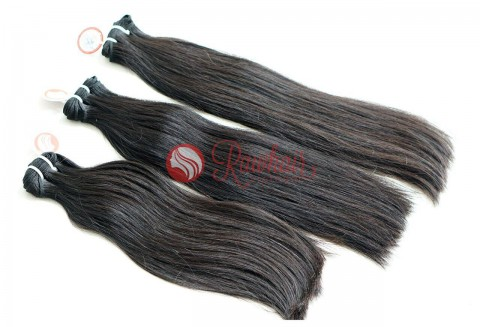 Straight Single Drawn Machine Weft Hair