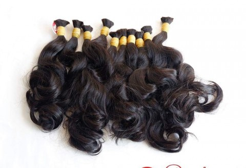 Wavy Double Drawn Bulk Hair