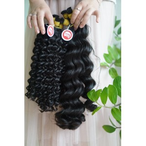 Curly Double Drawn Bulk Hair