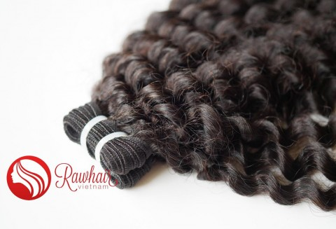 Curly Single Drawn Machine Weft Hair
