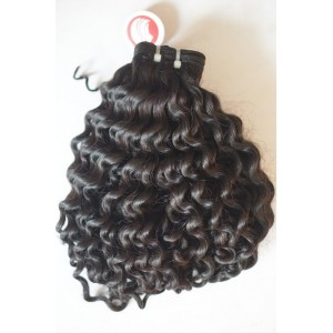 Curly Double Drawn Machine Weft Hair